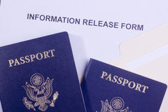 Information Release Form Royalty Free Stock Photography