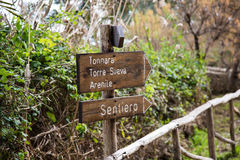 Information of reserves  Vendicari Nature Reserve in Sicily. Vendicari Nature Reserve in Sicily Stock Photo