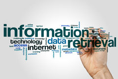 Information retrieval word cloud Stock Photos