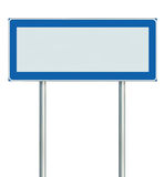 Information Road Sign Isolated, Blank Empty Signpost Copy Space For Icons, Pictograms, Large Roadside Info Signage Pole Post Royalty Free Stock Photos