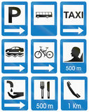Information Road Signs In Colombia Royalty Free Stock Photo