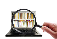 Information search Royalty Free Stock Photo