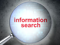 Information Search with optical glass Stock Photos