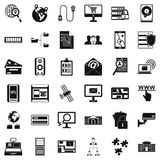 Information security icons set, simple style. Information security icons set. Simple style of 36 information security vector icons for web isolated on white Royalty Free Stock Photography