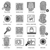 Information security icons. Vector information technology protection icons Stock Image