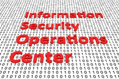 Information security operations center. In the form of binary code, 3D illustration Stock Image