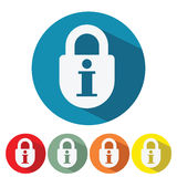 Information security web icon flat design. Vector illustration Stock Photo