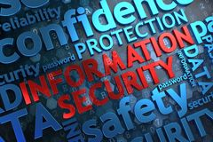 Information Security. Wordcloud Concept. stock photos