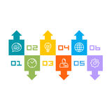 Information Set of icons. Art. Vector illustration Stock Photography