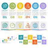 Information Set of icons. Art. Vector illustration Stock Image
