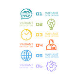 Information Set of icons. Art. Vector illustration Royalty Free Stock Photos