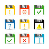 Information Set of icons, vector illustration. Royalty Free Stock Image