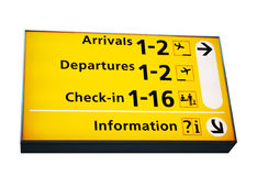 Information sign. Airport information sign, isolated on white royalty free stock photo