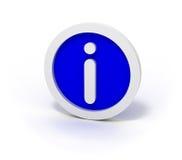 Information Sign. Blue information sign over white background Stock Image