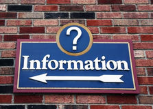 Information Sign Stock Photography