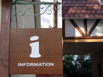 Information sign. Of a inforamtion centre Royalty Free Stock Photography