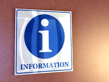 Information sign stock images
