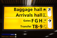 Information sign in airport Stock Photo
