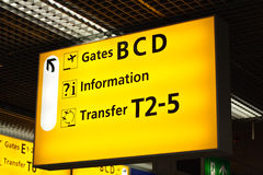 Information sign in airport Royalty Free Stock Images