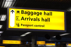 Information sign in airport Royalty Free Stock Photos