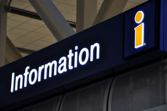 Information sign at airport Royalty Free Stock Photos