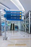 Information sign at airport Royalty Free Stock Image