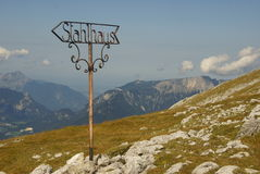 Information sign - alps of austria Stock Image