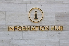 Information Sign, in Arabic Writing. Information Signage on a Wall in a Tourist Area of Dubai Royalty Free Stock Photo