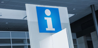 Information sign in a business center Royalty Free Stock Photos