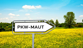 Information sign car toll, PKW Maut Stock Images