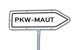 Information sign car toll, PKW Maut Stock Photo