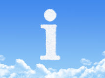 Information sign cloud shape Stock Image