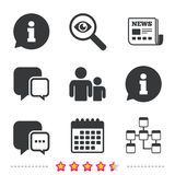 Information sign and group. Communication icons. Royalty Free Stock Photos
