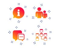 Information sign and group. Communication icons. Vector