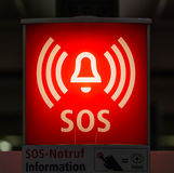 Information sign for help SOS Stock Photography