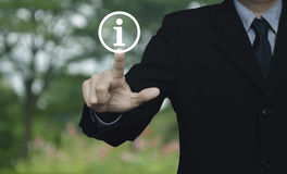 Information sign icon Stock Photo