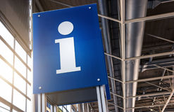 Tourist information sign in a station Royalty Free Stock Photography
