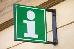 Tourist Information Sign. An Information sign for a Tourist Information building Stock Photography