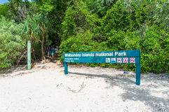 Information sign in Whitsunday Islands National Park Royalty Free Stock Image