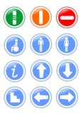 Information signals. Twelve signs that display information Royalty Free Stock Image