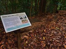 Information signboard about nature conservation Stock Photo