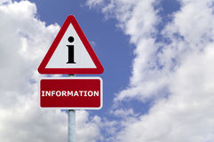 Information signpost Royalty Free Stock Images