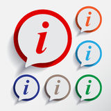 Information signs or icon. Stock Images