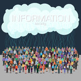 Information society concept stock illustration