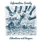 Information society problems Stock Photo