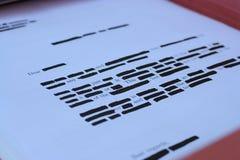 information som reveiling Arkivfoto