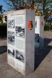 Information står i Stalowa Wola, Polen arkivbild