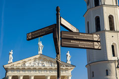 Information street signs in Vilnius Royalty Free Stock Photos