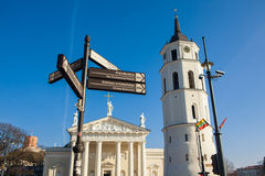 Information street signs in Vilnius Royalty Free Stock Images