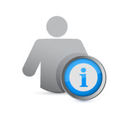 Information support help icon. illustration design Stock Images